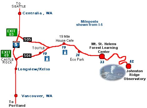 Mt St Helens Map