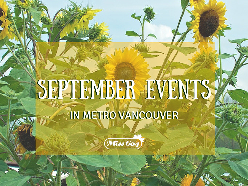 September Events in Metro Vancouver