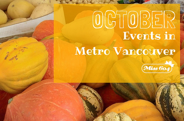 October Events in Metro Vancouver