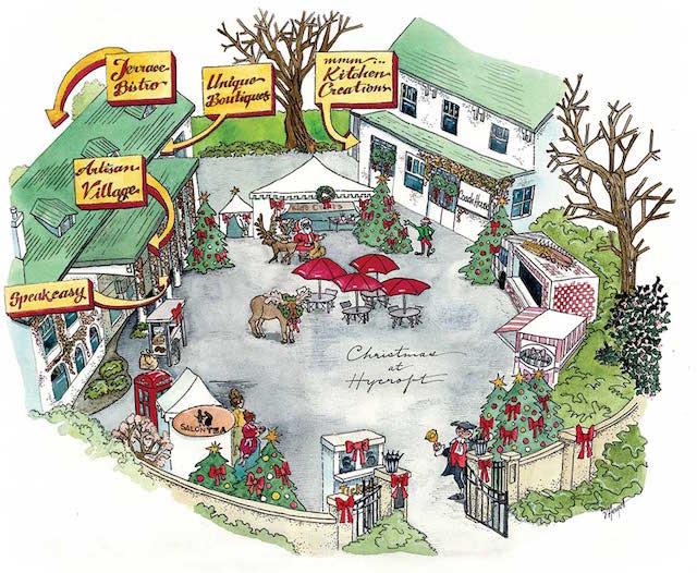 Christmas at Hycroft - courtyard