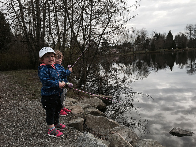 Fishing at Lafarge Lake