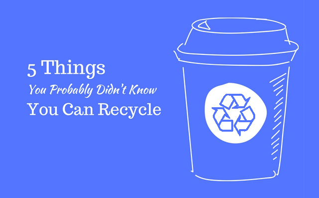 5 Things You Can Recycle, But Probably Didn't Know That You Could