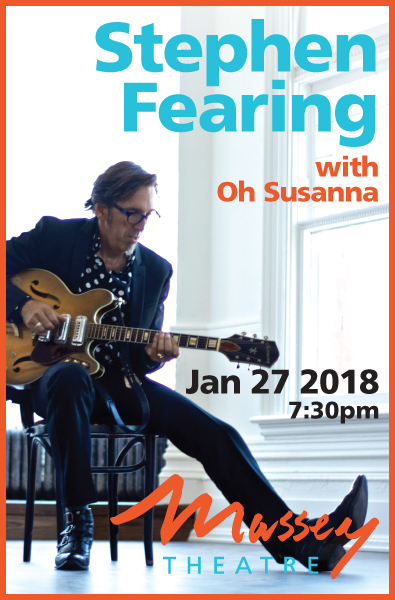 Massey Theatre Presents Stephen Fearing with Oh Susanna