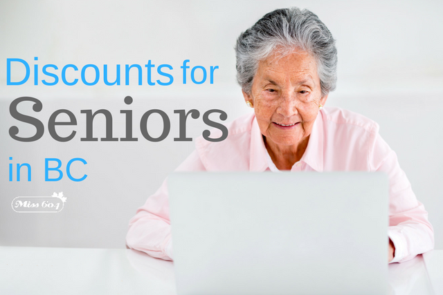 Discounts for Seniors in BC