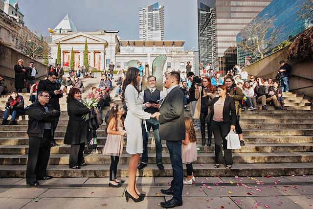 Free Weddings at Robson Square
