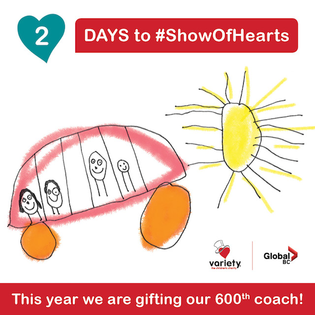 Show of Hearts Telethon on Global - 2 Days to Go Sunshine Coach