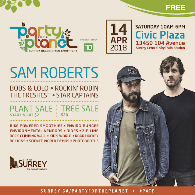 Surrey Party for the Planet 2018 with Sam Roberts