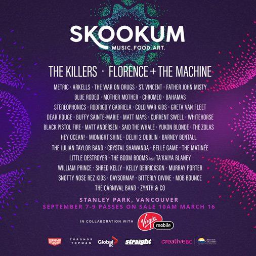 Skookum Lineup