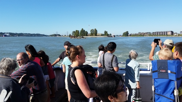 Q to Q ferry service in New Westminster