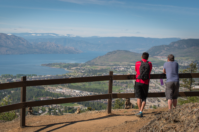 View of Lake Okanagan from the Bucherie Rush Trail (Mount Boucherie, West Kelowna)