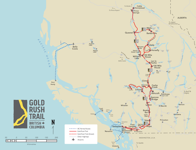 Gold Rush Trail Map