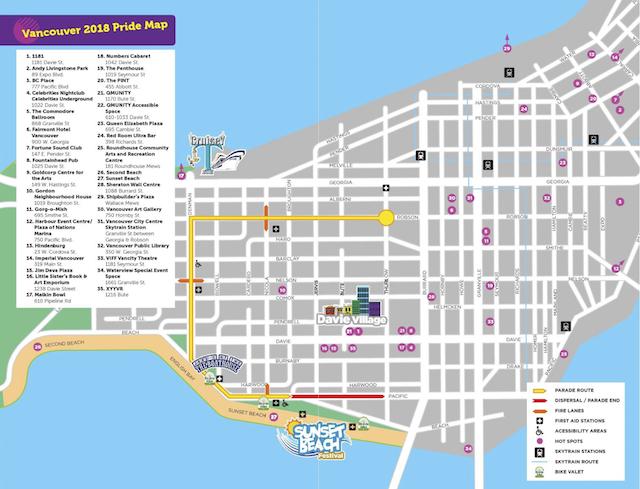 Vancouver Pride Parade Route 2018
