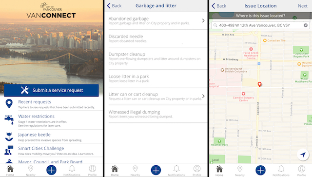 VanConnect App Screenshots