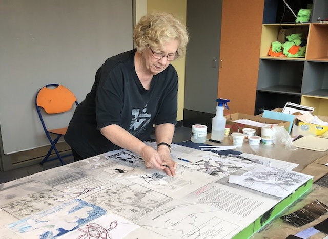 Collage Workshop with Artist in Residence Dorothy Doherty