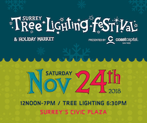 Surrey Tree Lighting 2018