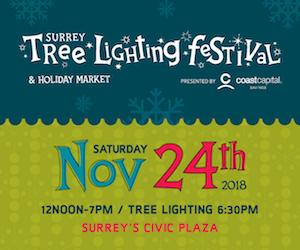 Surrey Tree Lighting 2018