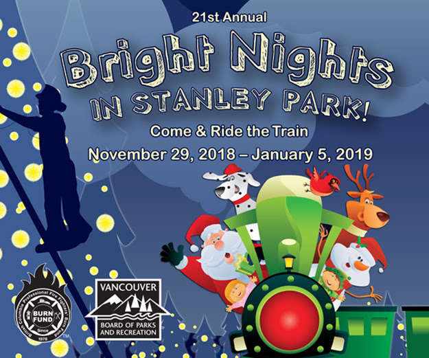 Bright Nights in Stanley Park Christmas Train