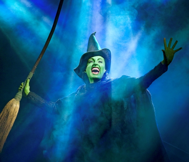 Jackie Burns as Elphaba in Defying Gravity (Photo by Joan Marcus).jpg