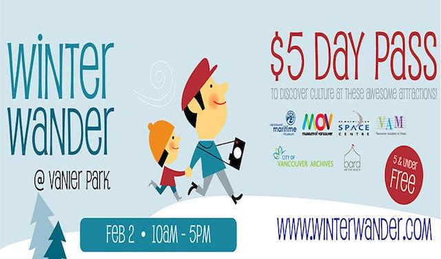Visit 5 Cultural Venues for $5 During Winter Wander at Vanier Park