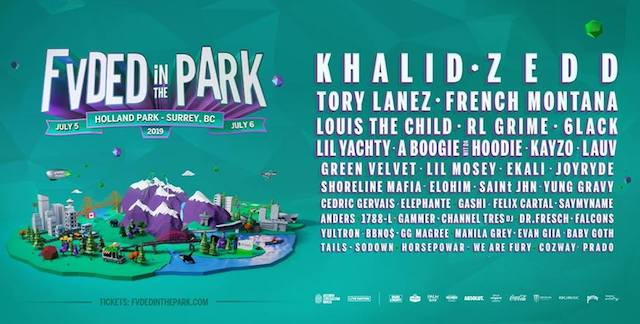 FVDED in the Park 2019 Lineup