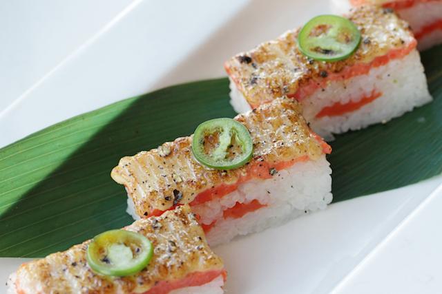 Minami's signature Aburi sushi