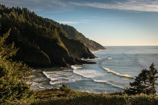 View from the private porch at Heceta HeadLighthouse B&B