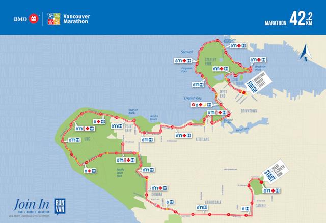 Vancouver Marathon Map