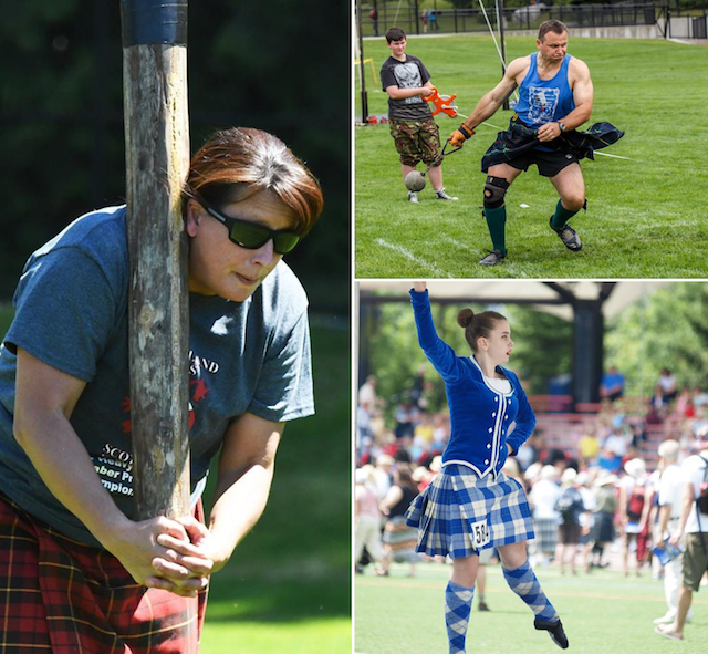 Highland Games Collage