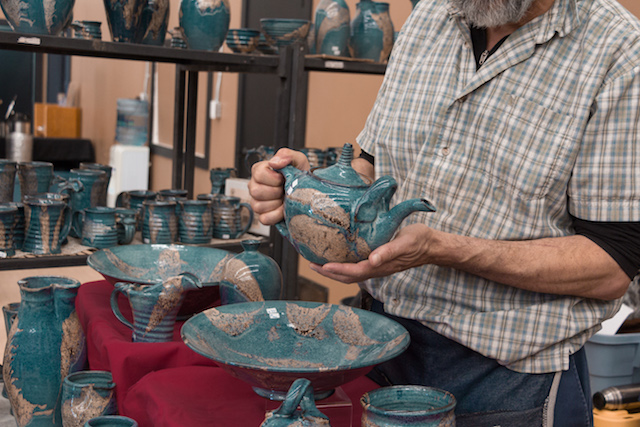 Geri Binder Pottery at the Cranbrook Farmers Market