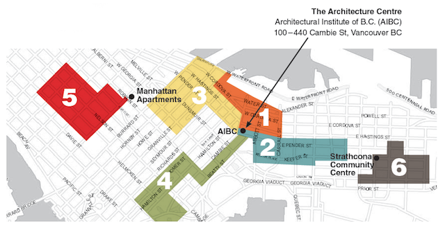 AIBC Vancouver Tour Map
