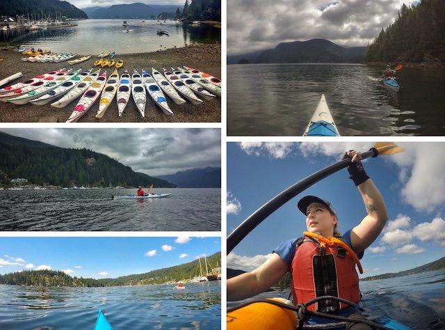 Rebecca Kayaking in Deep Cove