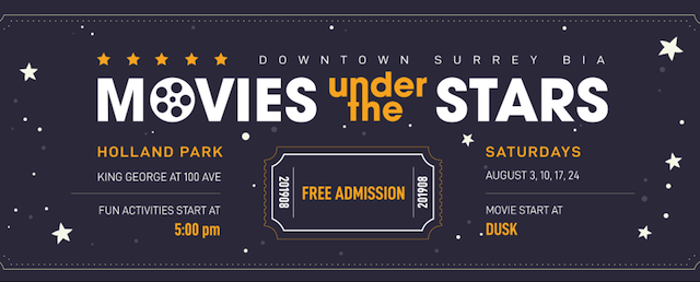 Movies Under the Stars Surrey