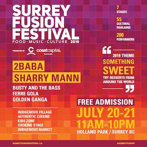 Surrey Fusion Festival July 21-22, 2019