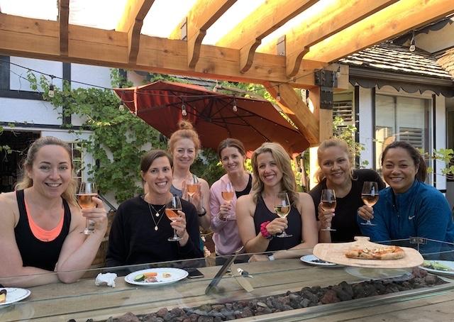 Wine and Yoga in Richmond Jen Murtagh