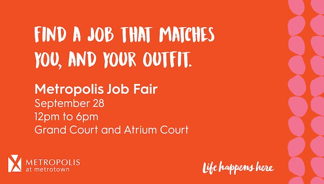 Metropolis Job Fair September 28