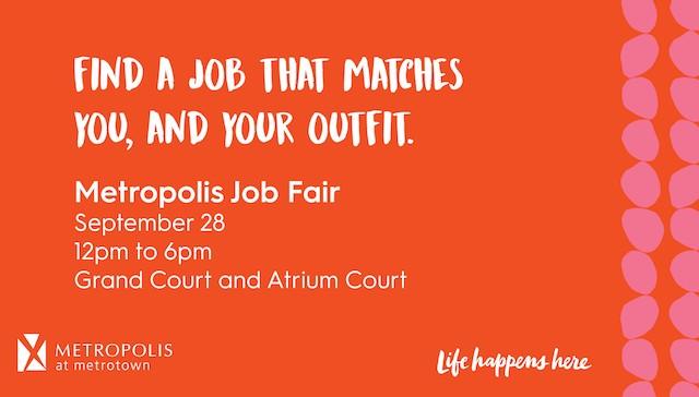 Metropolis Job Fair Sept 28, 2019