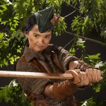 Carousel Theatre for Young People: Kaitlyn Yott as Peter Pan. Photo by Tim Matheson.