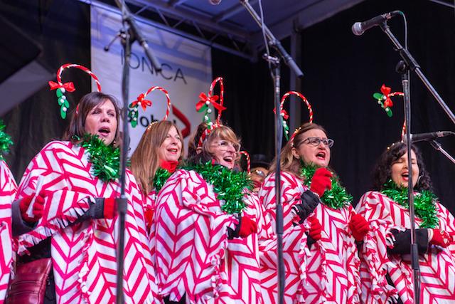 Yule Duel Choir on Stage