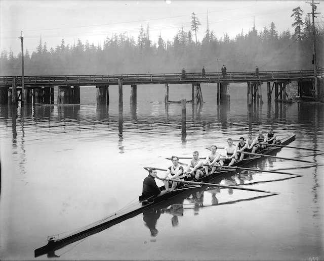 1920 - Vancouver Rowing Club, Stanley Park Bridge.
