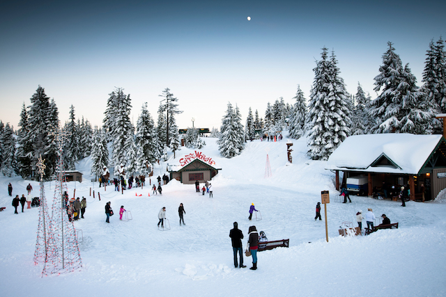 Grouse Mountain Peak of Christmas Skating - Holiday Fun in Vancouver