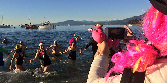 Polar Bear Swim. Tourism Vancouver Photo.