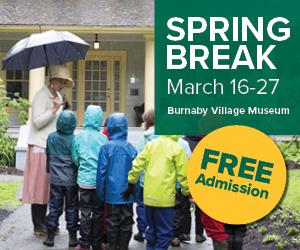 Burnaby Village Museum Spring Break