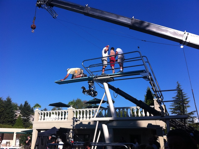 Film Shoot of Diary of a Wimpy Kid: Dog Days (at Eagleridge Pool)