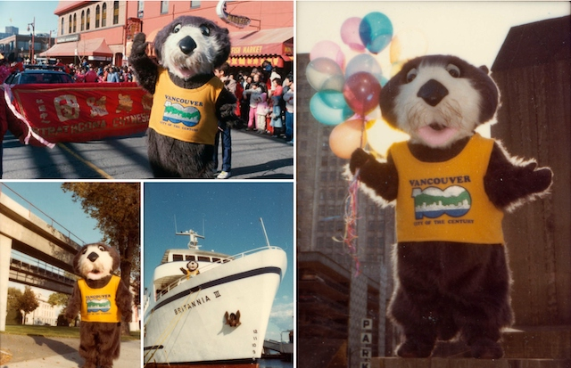 Tillicum the Otter Mascot Collage