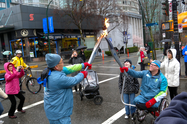 The Paralympic Torch on Robson Street