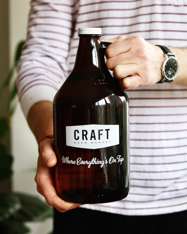 Craft Beer Market Growler - Supplied Image