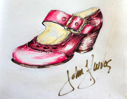 John fluevog Bonnie henry sketch
