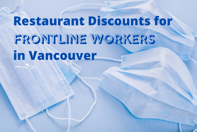 Restaurant Discounts for Frontline Workers in Vancouver