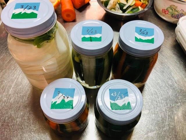 Salt fermented pickles