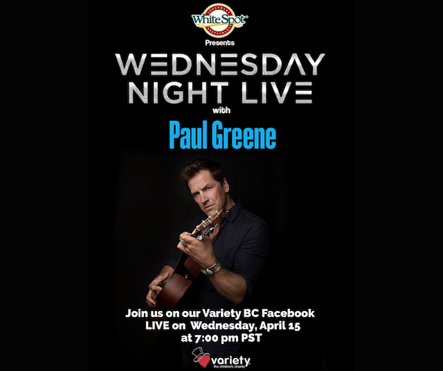 Wednesday Night Live for Variety BC - Paul Greene